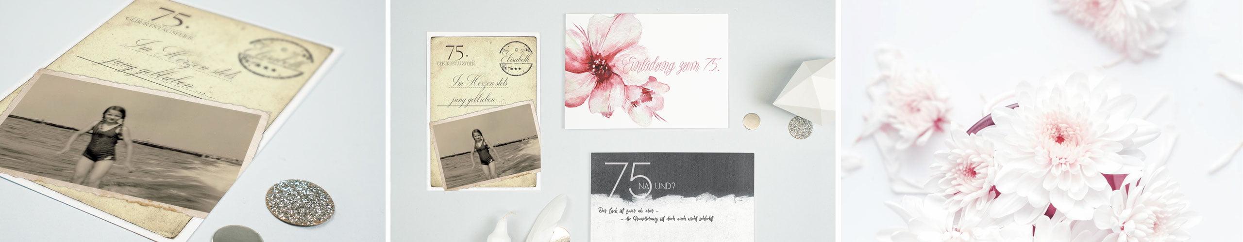 Einladungen Zum 75 Geburtstag