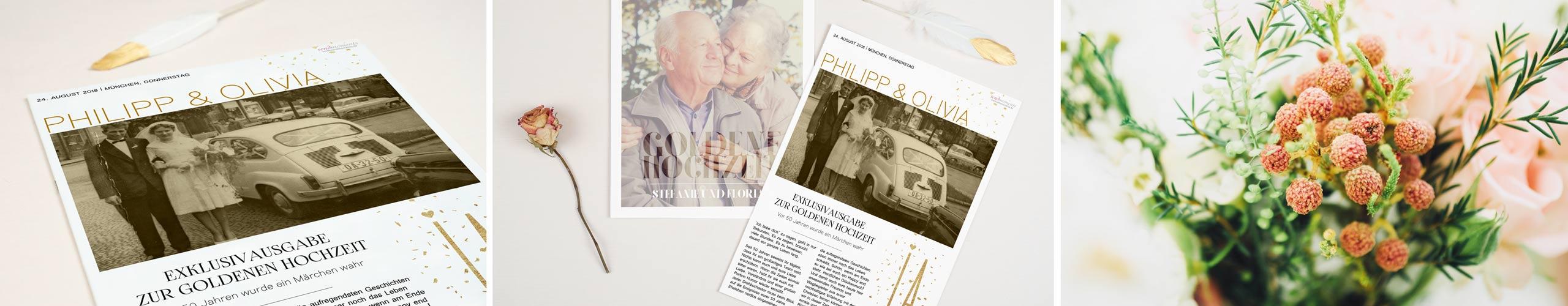 Festzeitung Goldene Hochzeit