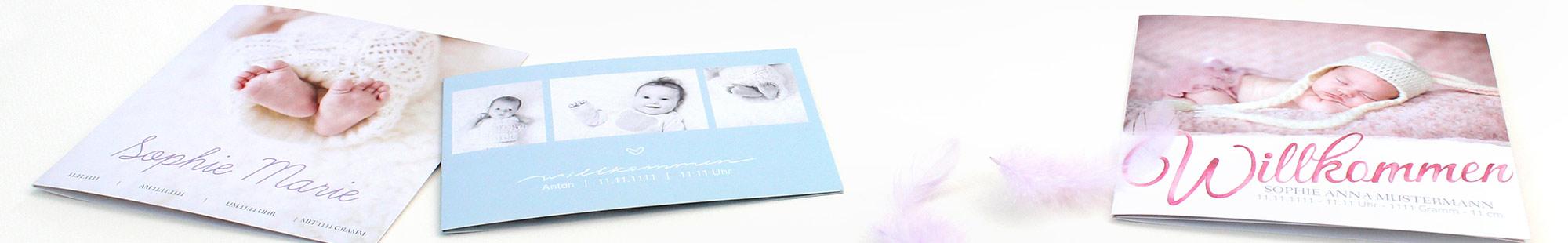 Süße Geburtskarten online gestalten und drucken