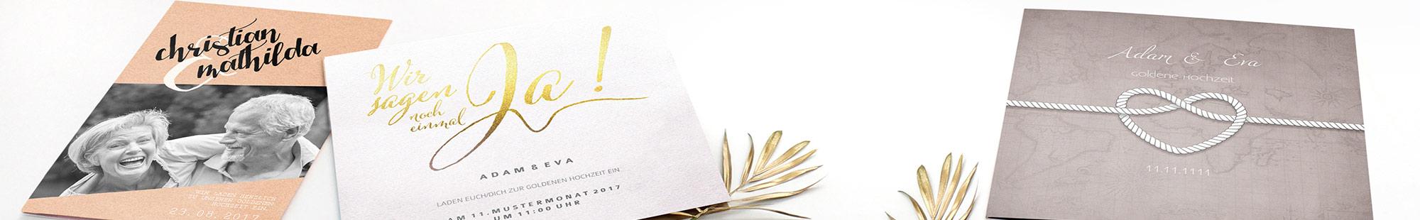 Zur Goldenen Hochzeit Einladungskarten