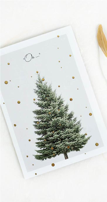Weihnachtskarten für festliche Grüße und Wünsche selbst gestalten