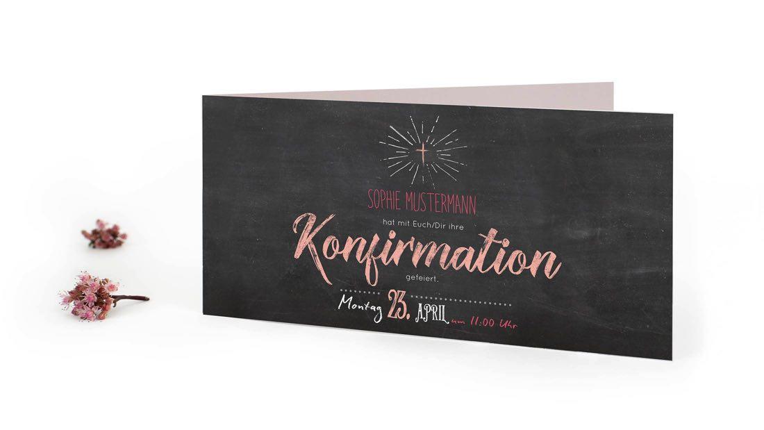 Konfirmationskarten Für Einladungen Und Danksagungen Zur