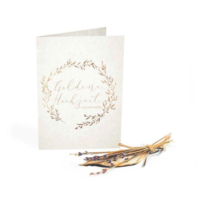 Karten Druckerei Fur Einladungen Und Danksagungen Zur Goldene Hochzeit