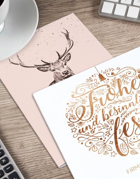 weihnachtskarte online drucken